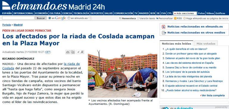 Redactor freelance El Mundo: acampada
