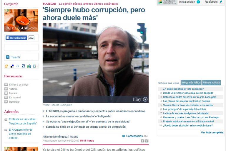 Redactor freelance El Mundo: corrupción