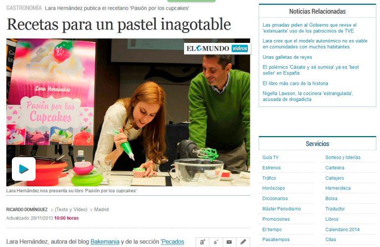 Redactor freelance El Mundo: recetas