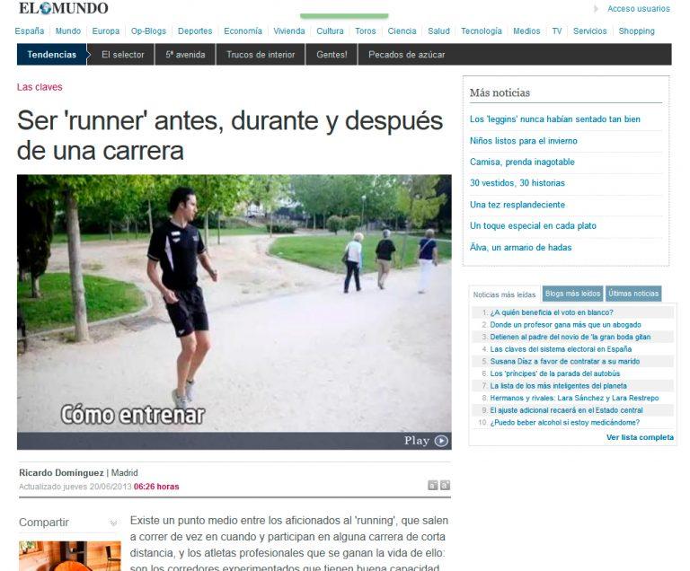 Redactor freelance El Mundo: Ser runner antes y después